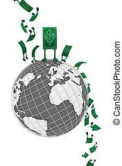 Live Cash, World Drop Fall - Dollar money symbol cartoon ...