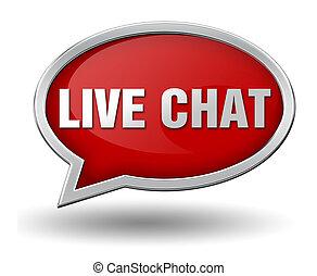 live chat badge concept 3d illustration