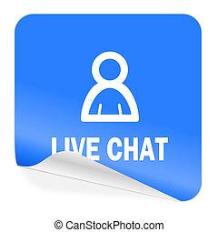 live chat blue sticker icon