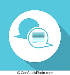 Live Chat design, vector illustration