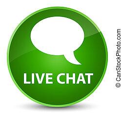 Live chat elegant green round button