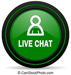 live chat green icon