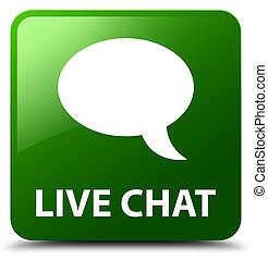 Live chat green square button