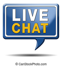 live chat icon - chat live icon or button