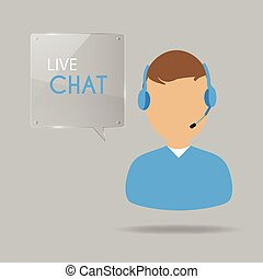Live Chat Illustration