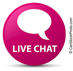 Live chat pink round button