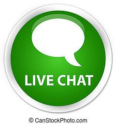 Live chat premium green round button