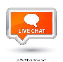 Live chat prime orange banner button