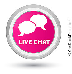 Live chat prime pink round button