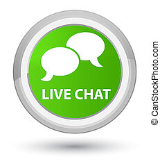 Live chat prime soft green round button