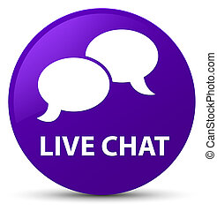 Live chat purple round button