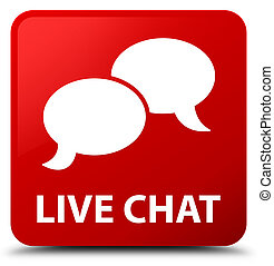 Live chat red square button
