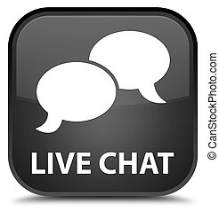 Live chat special black square button