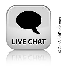 Live chat special white square button
