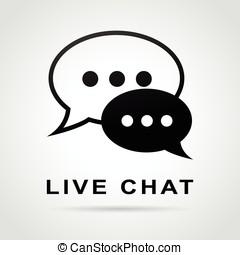 live chat speech bubbles concept