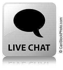 Live chat white square button