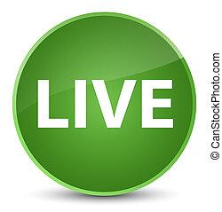 Live elegant soft green round button