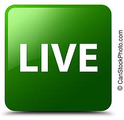 Live green square button