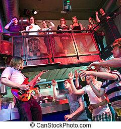 Live Guitar - Guitarist, prerforming live in a nightclub ...