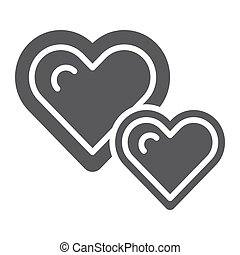 Solid circle love heart icons  vector illustration of
