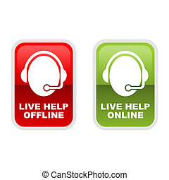 Live Help - Customer service icons