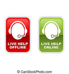 Live Help - Customer service icons