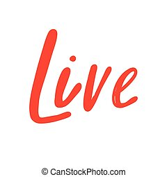 Live. Icon backdrop Sale website banner. Business card Vector collection. Discount offer sign. Sticker Price tag.