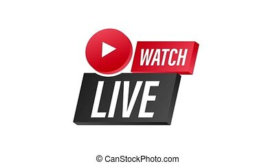 Live match logo. stock illustration