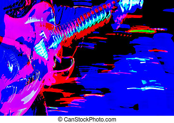 live - motion blur on an electric guitarist