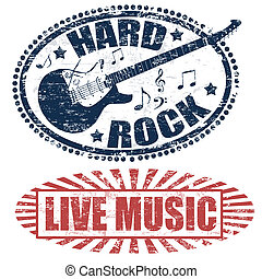 live music and hard rock stamps - Two stamps with live music...