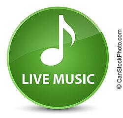 Live music elegant soft green round button