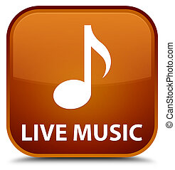 Live music special brown square button