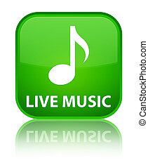 Live music special green square button