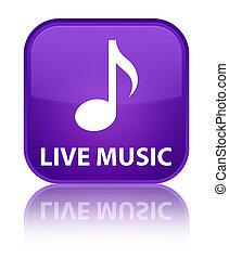 Live music special purple square button