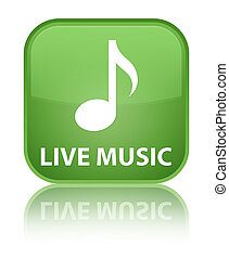 Live music special soft green square button
