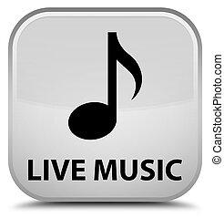 Live music special white square button
