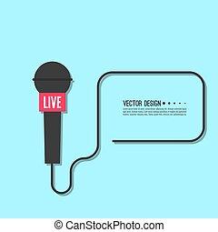 Live news template. - Journalism concept. Live news template...