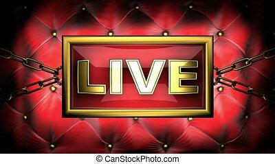 live on velvet background