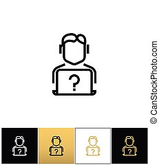 Live online support hotline information assistance vector icon
