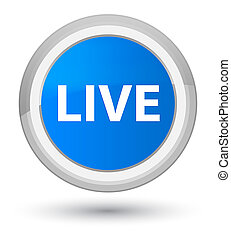 Live prime cyan blue round button
