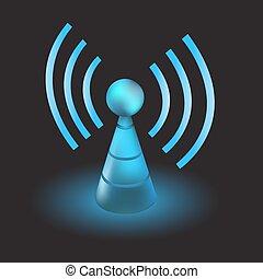 Live radio - Telecommunications radio tower as concept