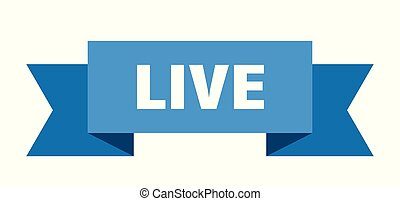 live ribbon. live isolated sign. live banner