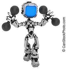 Live Screen Robot, Dumbbells