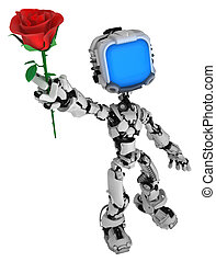 Live Screen Robot, Rose