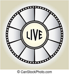 LIVE sign - vector