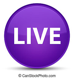 Live special purple round button