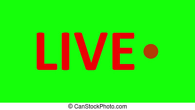 Live Stream sign. Red symbol, button of live streaming, ...