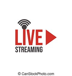 Live stream tv logo icon vector image. Live Streaming online...