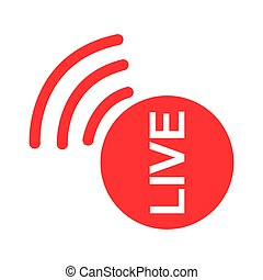 Live streaming icon. Modern vector button design isolated on white background
