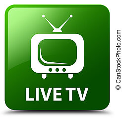 Live tv green square button